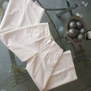 Jennifer Lopez linen / rayon wide leg cream pants